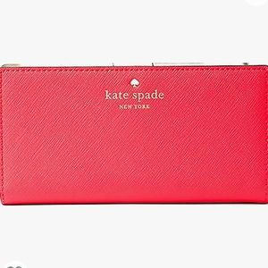 Kate Spade Mikas Pond Stacy Wallet Leather-Red